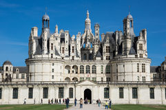 The royal Chateau de Chambord Stock Photography