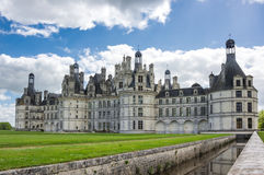The royal Chateau de Chambord Royalty Free Stock Images