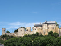 Royal Chinon fortress, France. View of Chinon royal Fortress from the south Stock Images