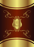 Royal Chocolate Shield Stock Images