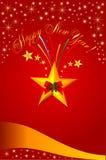 Royal Christmas card. Vector illustration of royal Cheristmas card with stars Stock Image