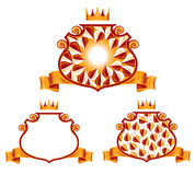 Royal classic emblems. Royalty Free Stock Photography
