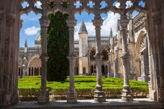 Royal cloister of Batalha monastery Royalty Free Stock Photo