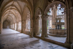 Royal cloister. The Monastery of Batalha, literally the Monastery of the Battle, is a Dominican convent in the civil parish of Batalha, in the district of Leiria stock photo