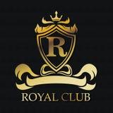 Royal club gold emblem design Stock Image
