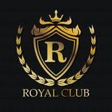Royal club gold emblem design Royalty Free Stock Photo