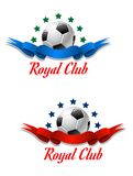 Royal Club soccer championship emblem Stock Photography