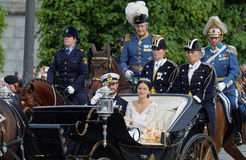 The royal coach carrying the swedish Prince Carl-Philip Bernadot Stock Photography