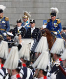 The royal coach carrying the swedish Prince Carl-Philip Bernadot Royalty Free Stock Photo