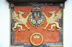 Royal coat of arms Royalty Free Stock Photography