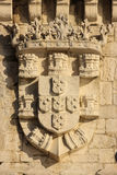 Royal Coat of Arms. Belem Tower. Lisbon. Portugal Royalty Free Stock Photos