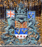 The Royal Coat of Arms of Canada Stock Images