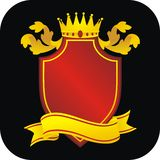 Royal coat of arms Stock Photo