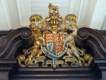 Royal coat of arms of England. Colorfully painted Royalty Free Stock Photo