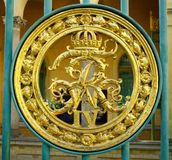 Royal coat of arms on gates to park sanssouci Royalty Free Stock Photo