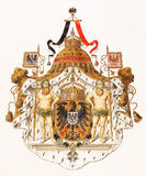 Royal coat of arms of German Empire Royalty Free Stock Photo