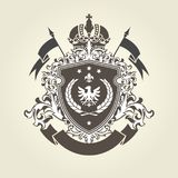 Royal coat of arms - heraldic blazon with crown Royalty Free Stock Photography