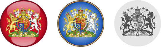 Royal Coat Of Arms Set stock image