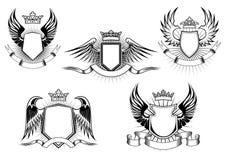 Royal coat of arms templates Stock Photos