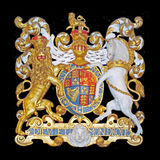 Royal Coat of Arms of the United Kingdom Stock Photos