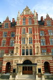 Royal College Of Music. The Royal College Of Music built in 1901 and designed by Arthur Blomfield , faces the Royal Albert Hall in London's Kensington and is The Stock Images