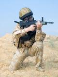 Royal commando. British Royal Commando in action Stock Image