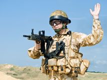 Royal commando Stock Photo