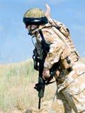 Royal commando. British Royal Commando in action Stock Photos