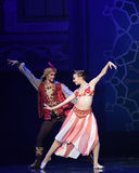 """The royal couple- ballet """"One Thousand and One Nights"""" Royalty Free Stock Photo"""