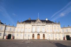 The Royal Couple's winter residence Amalienborg in Copenhagen, Denmark. Royalty Free Stock Images