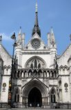 Royal Courts of Justice. The entrance to the Royal Courts of Justice in London, England Royalty Free Stock Photo