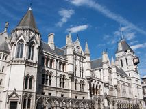 Royal Courts of Justice. The buildings of the Royal Courts of Justice in London, England Stock Image
