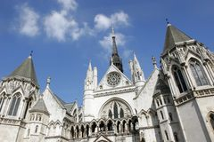 Royal Courts of Justice. The facade of Royal Courts of Justice in London Royalty Free Stock Image