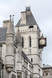 Royal Courts of Justice, gothic style building, facade, London, United Kingdom.  Stock Photos