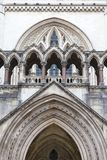 Royal Courts of Justice, gothic style building, facade, London, United Kingdom. Royal Courts of Justice, gothic style building, facade, London, United Kingdom Royalty Free Stock Photography