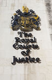 The Royal Courts of Justice in London.  Stock Image