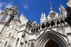The Royal Courts of Justice in London.  Royalty Free Stock Photography
