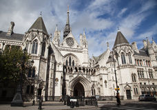 The Royal Courts of Justice in London.  Royalty Free Stock Photos