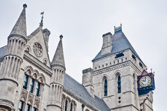 Royal Courts of Justice at London, England. Royal Courts of Justice building at London, England Stock Photography
