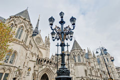 Royal Courts of Justice at London, England. Royal Courts of Justice building at London, England Royalty Free Stock Photography