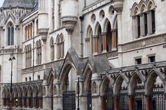 Royal Courts of Justice in London. The facade of the Royal Courts of Justice in London Stock Photos