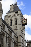 The Royal Courts of Justice, London. LONDON, GREAT BRITAIN - MAY 9, 2014: This is the clock tower of The Royal Courts of Justice Stock Photography
