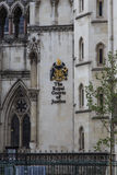 The Royal Courts of Justice, London. LONDON, GREAT BRITAIN - MAY 9, 2014: This is a fragment of the building of The Royal Courts of Justice Stock Image