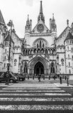 The Royal Courts of Justice in London - LONDON - GREAT BRITAIN - SEPTEMBER 19, 2016 Royalty Free Stock Photos