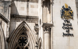 The Royal Courts of Justice, London royalty free stock photos