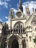 The Royal Courts of Justice, London, United Kingdom stock images