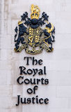 Royal courts london sign. Sign of royal courts of justice london Stock Photos