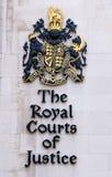 Royal courts london sign stock photos