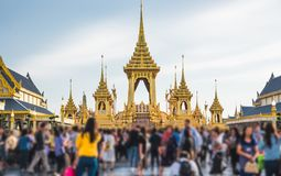 The Royal Cremation Ceremony of His Majesty King Bhumibol Adulyadej to open to public in Sanam Luang Bangkok. Thailand - November 28, 2017 Royalty Free Stock Images