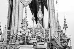 The Royal Cremation Ceremony of His Majesty King Bhumibol Adulyadej to open to public in Sanam Luang Bangkok. Thailand - November 28, 2017 Stock Image
